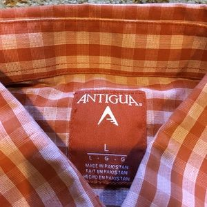 Antigua Shirts - University of Texas Button-Up Size Large